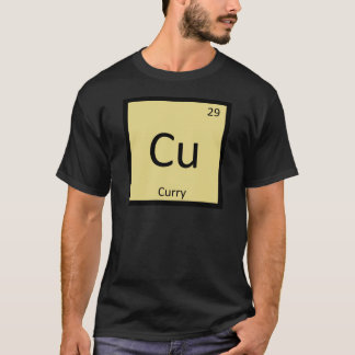 Cu - Curry Spice Chemistry Periodic Table Symbol T-Shirt