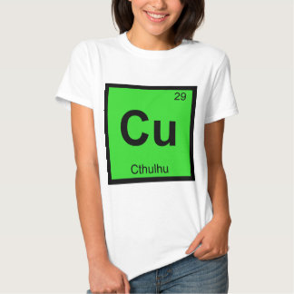 Cu - símbolo de la tabla periódica de la química poleras