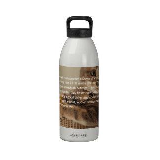 Cu tee Check Poem Water Bottle