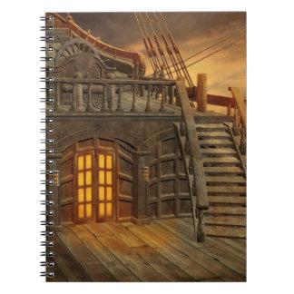 Cuaderno a bordo del barco pirata