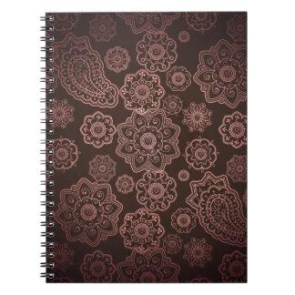 Cuaderno abstracto de bronce de la foto de Paisley