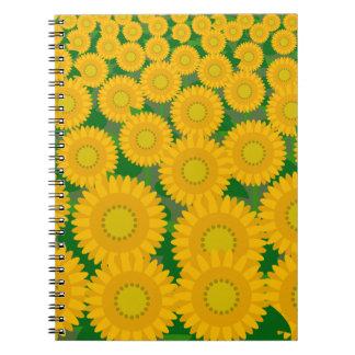 Cuaderno abstracto de la foto del campo del