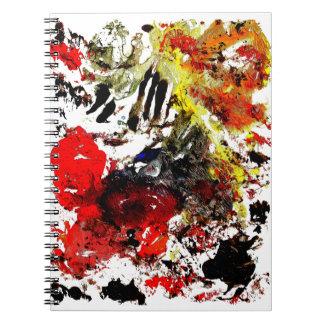 Cuaderno abstracto de la pintura