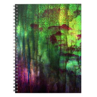 Cuaderno abstracto iridiscente bonito del diseño
