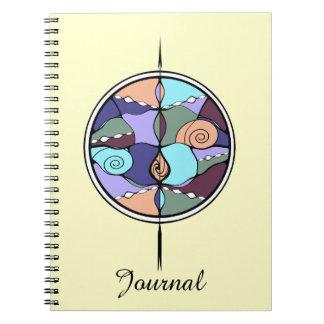 Cuaderno abstracto moderno de Nouveau del compás