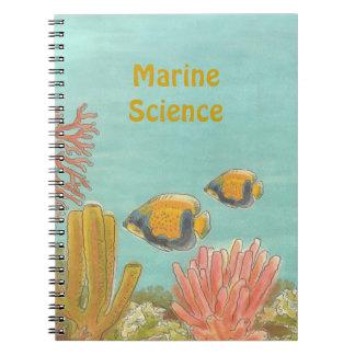 Cuaderno acuático personalizado del libro de