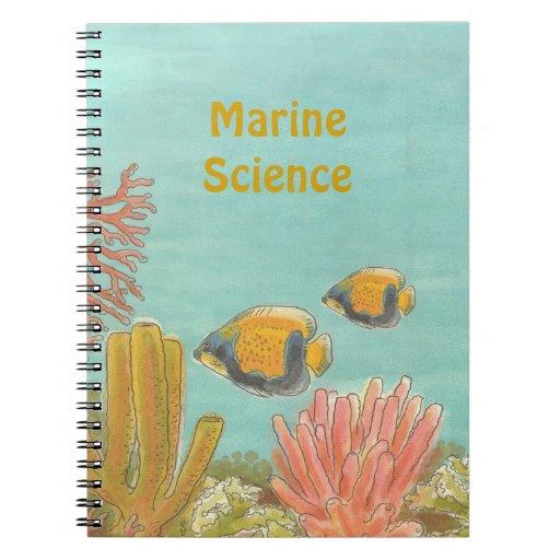 Cuaderno acuático personalizado del libro de visit