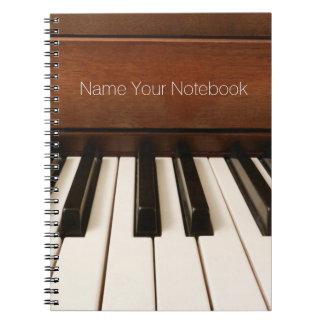 Cuaderno acústico personalizado de la música del