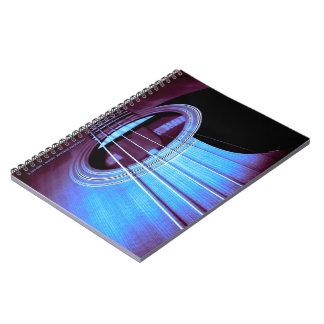Cuaderno acústico púrpura/azul de Dreadnought
