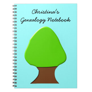 Cuaderno adaptable de la genealogía del árbol