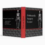 Cuaderno adaptable de los ortopedistas con el esqu