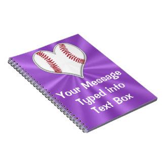 Cuaderno adaptable del béisbol para los chicas