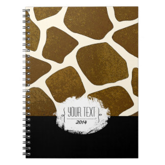 Cuaderno adaptable del estampado de girafa