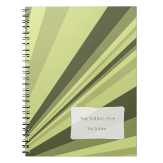 Cuaderno adaptable en sombras del verde verde