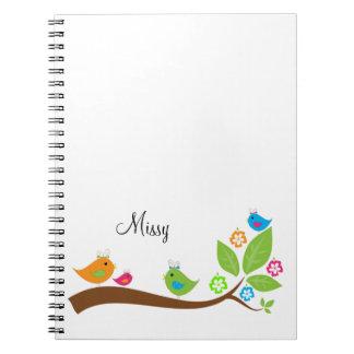 Cuaderno adorable de cuatro pequeño chirridos