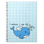 Cuaderno adorable de Kawaii Narwhal