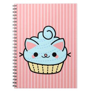 Cuaderno adorable de la magdalena de Kawaii