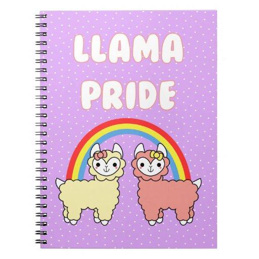 Cuaderno adorable del orgullo de la llama