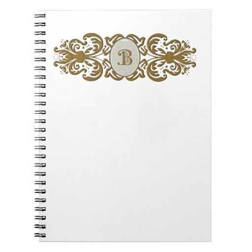 Cuaderno adornado de la letra B del monograma de l