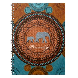 Cuaderno adornado de los elefantes