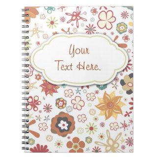 Cuaderno al azar del jardín de flores de la divers