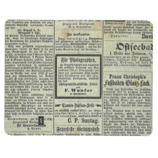 Cuaderno alemán del periódico del vintage
