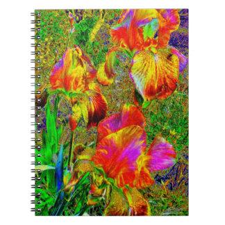 Cuaderno alterado de los iris