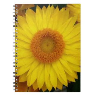 Cuaderno amarillo de la floración (80 páginas B&W)