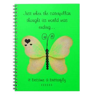 Cuaderno amarillo de la mariposa