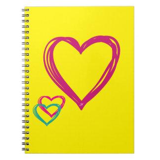 Cuaderno amarillo de los corazones (80 páginas