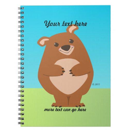 Cuaderno amistoso del oso