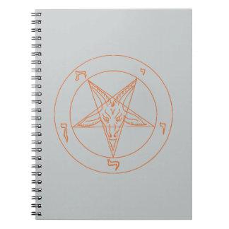 Cuaderno anaranjado de Baphomet