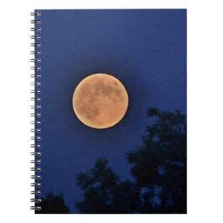 Cuaderno anaranjado de la luna