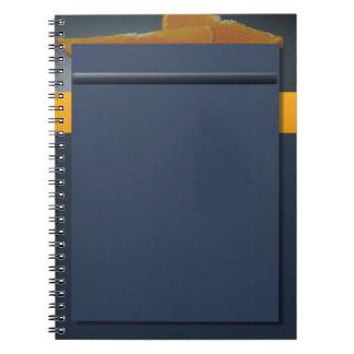 Cuaderno anaranjado de medianoche