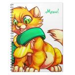Cuaderno anaranjado del gatito