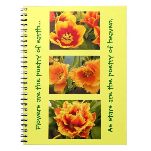 Cuaderno anaranjado del tulipán