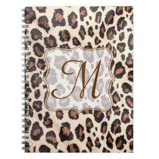 Cuaderno animal de la inicial del monograma del pu