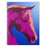Cuaderno animal del arte de caballo del extracto r