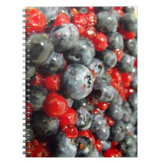 cuaderno, arándano cuaderno