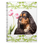 Cuaderno arrogante de los tulipanes del perro de a
