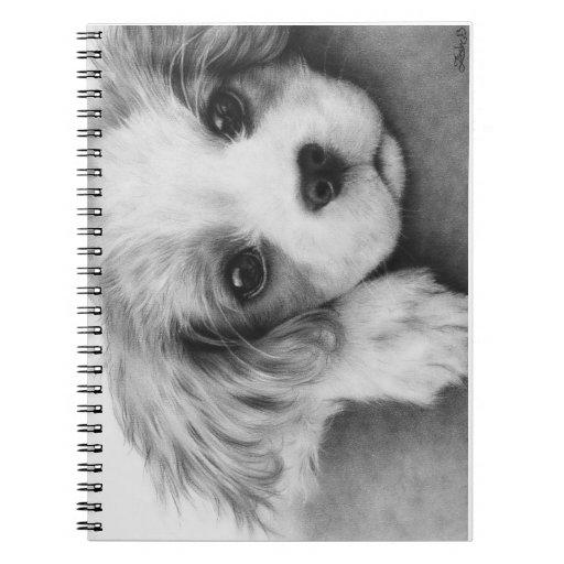 Cuaderno arrogante del perro de perrito del perro