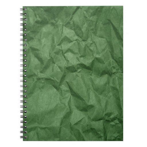 Cuaderno arrugado de la textura del Libro Verde