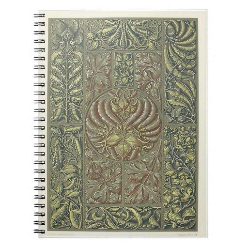 Cuaderno - art déco del vintage