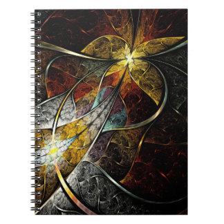 Cuaderno artístico colorido del fractal
