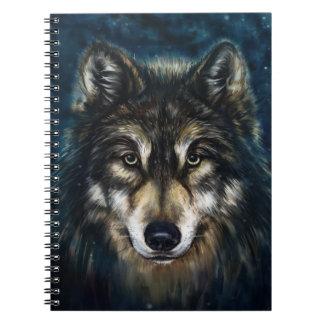Cuaderno artístico de la cara del lobo