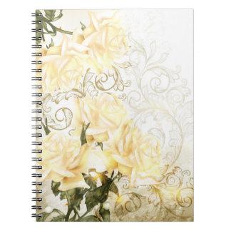 Cuaderno artístico de los rosas amarillos