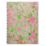 Cuaderno artístico floral