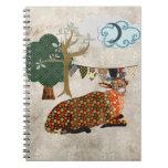 Cuaderno artsy de la luna azul del Addax
