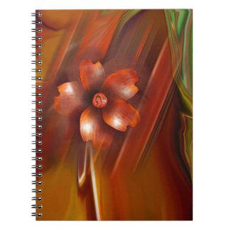Cuaderno asiático de la flor