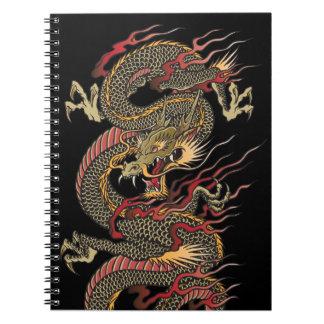 Cuaderno asiático del dragón